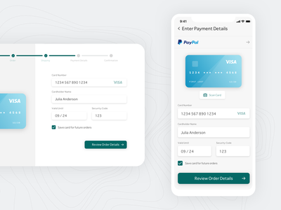 dailyui 002/100 - credit card checkout form credit card form credit card responsive mobile digital design visual design ux ui payment dailyui 002 dailyuichallenge dailyui