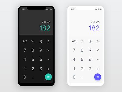 dailyui 004/100 - calculator typography vector calculator dark mobile design mobile ux uiux ui dailyui 004 dailyuichallenge dailyui