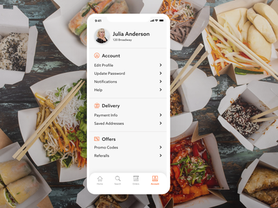 dailyui 007/100 - settings settings visual design dailyuichallenge design ux ui typography mobile app food app food dailyui 007 dailyui