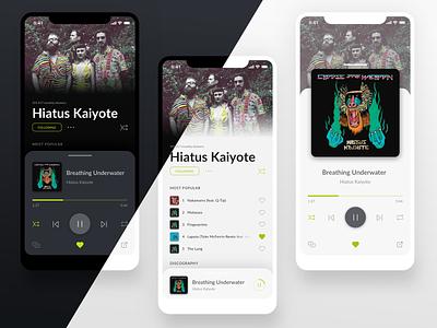 dailyui 009/100 - music player dailyuichallenge visual design app ux ui typography design mobile music player music app music dailyui 009 dailyui
