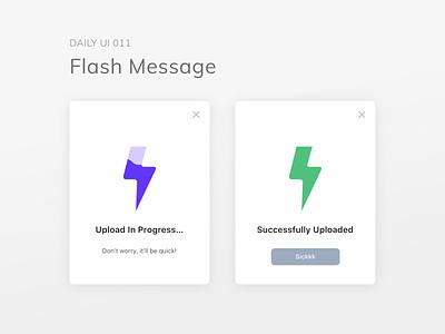 dailyui 011/100 - flash message icon app design mobile dailyuichallenge visual design dailyui ux ui