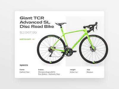 dailyui 012/100 - E-Commerce Shop (Single Item) web bike shop commerce dailyuichallenge visual design typography design dailyui ux ui