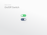 dailyui 015/100 On/Off Switch