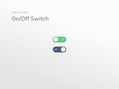 dailyui 015/100 On/Off Switch mobile dailyuichallenge visual design design dailyui ux ui
