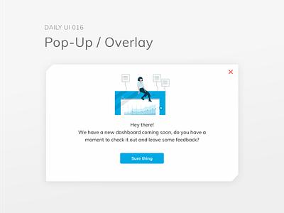 dailyui 016/100 Pop-Up / Overlay web dailyuichallenge visual design typography design dailyui ux ui