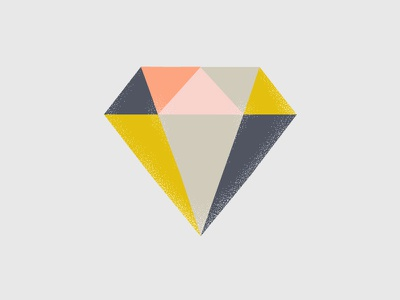 #basic color illustration stippling diamond