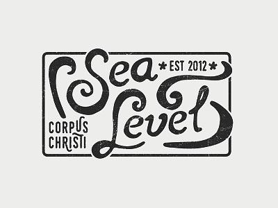 Sea Level hand lettered typography texas sea level combination mark logo mark logotype identity design corporate identity logo design logo branding