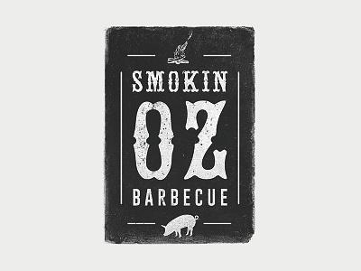 Smokin' Oz Bbq typography illustration texture barbecue bbq logo mark logotype identity design corporate identity logo design logo branding