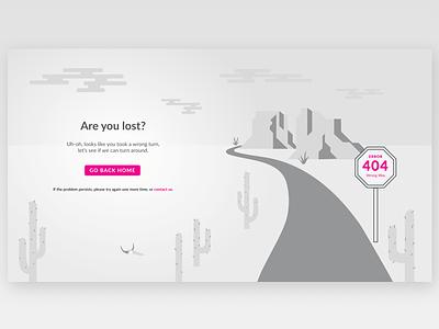 404 Screen road ux ui landscape