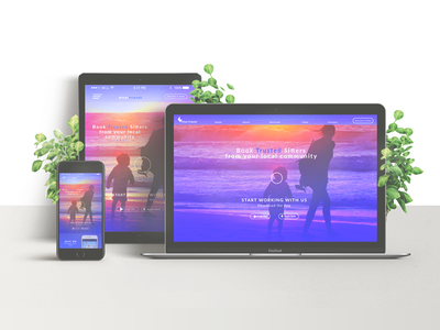 Sitterfriends digital design webdesign typography visual design desktop design sketch illustration web app ui-ux design