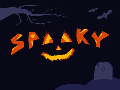 Spooky bat night face pumkin halloween spooky