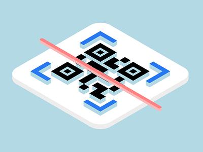 QR Code isometric icon 3d logo qr qr code icon isometric icons isometric