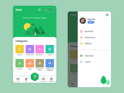NGO App android app nature green ngo app mobile app ux ui