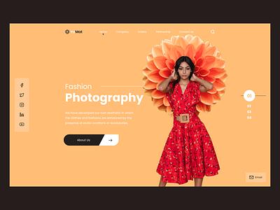 Fashion Photography Home photography fashion ui design web design