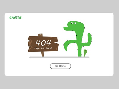 404 illustration page not found error page cactus 404