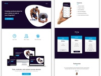 Gym Trainer - Landing Page
