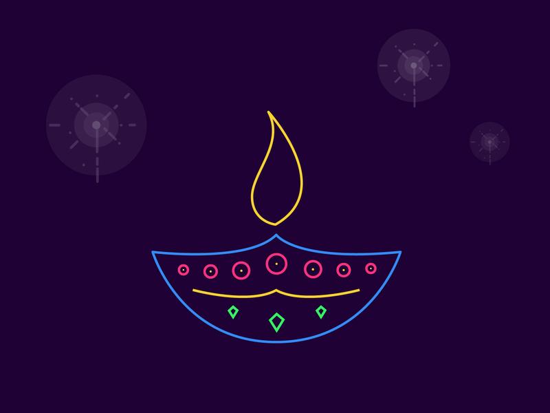 Diwali crackers festival colors illustration diwali