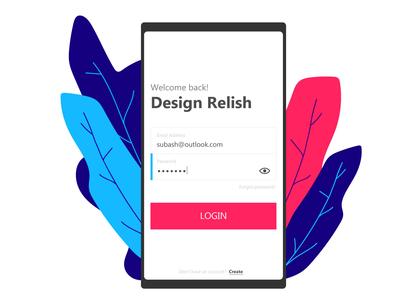 Login illustration ui login design login form login