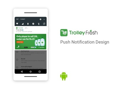 Notification Panel notification android push notification design