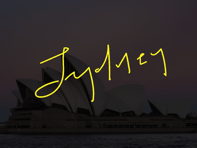 Sydney lettering illustration hand lettering calligraphy typography