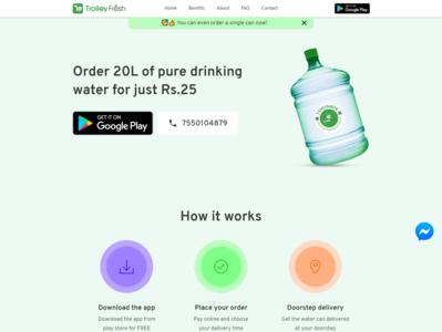 Trolley Fresh website design