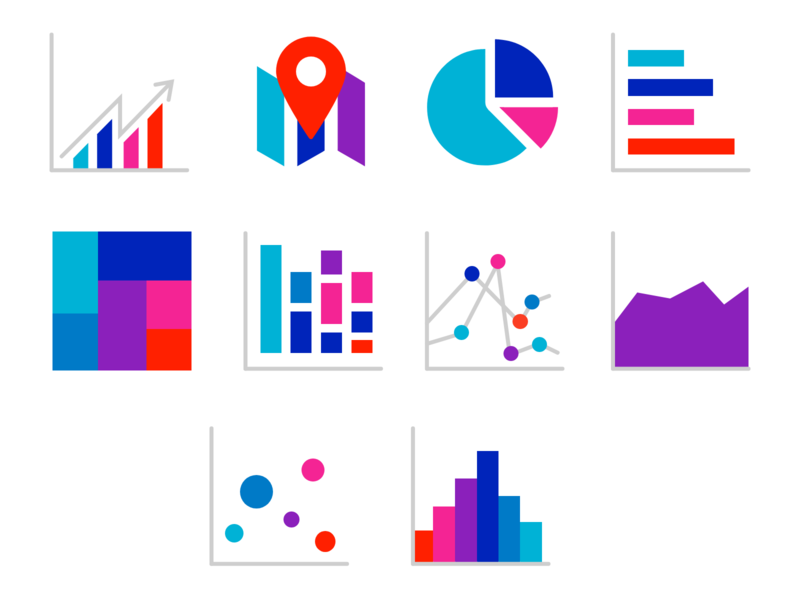Charts icons icon set cool colorful icons chart