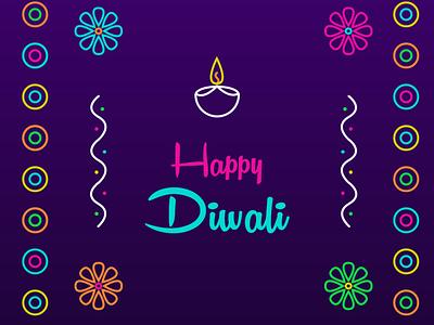 HAPPY DIWALI colorful celebration festival vector color adobexd illustraion colors diwali