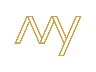 Michaela Yarbrough - Personal Logo y m lettermark letter mark initials gold graphicdesigner selfpromotion logo