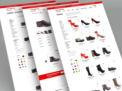 New Pittarello Shoes E-commerce UI web design ux user interface