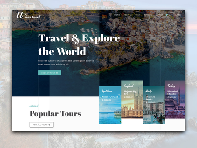 Tour Travel UI design digital tourism ui design travel