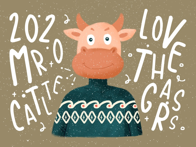 Poster of the ox of the zodiac poster cattle ox zodiac illustration photoshop