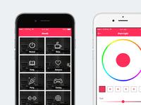 MOODZ Native ios app Light Configure