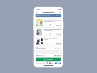 Gift Wrap in Cart page shopping ui e-commerce app shopping app shopping cart gift wrap gift box