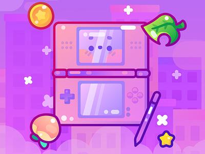 Nintendo videogame animal crossing game nintendo switch video game controller kawaii nintendo character design flat illustrator vector illustration