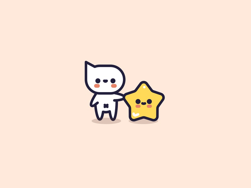 Good night. chat star cute flat character icon design illustrator vector illustration