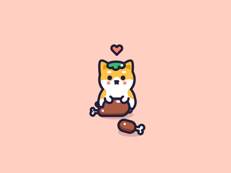 Happy Thanksgiving thanksgiving dog kawaii animal icons cute character icon design flat vector illustrator illustration