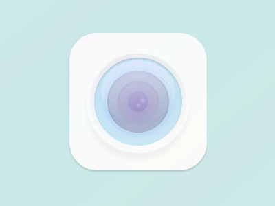Camera - CSS Only css only camera rovane durso homage icon shading