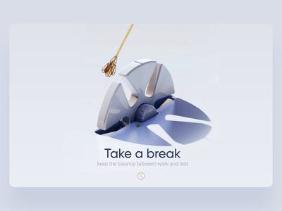 Pendulum web site typography branding cycle set business design illustration pendulum balance brea user inteface ui ux 3d cinema4d c4d motion animation