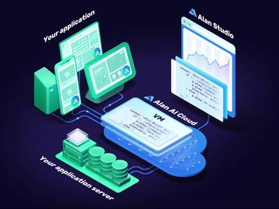 Alan platform animation database chart cloud blockchain neural network artificial intelligence anim web logo ui branding 3d motion c4d animation cinema4d