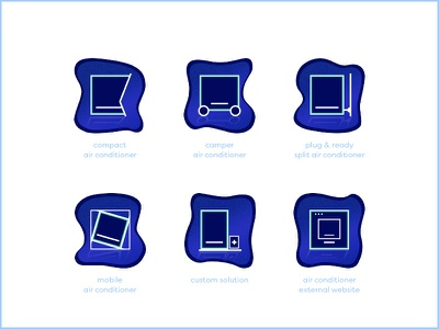 Icon Set ui boutton product ios air conditioner identity icon set icon design icons icon branding