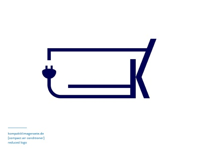 Logo for mobile devices logo mark logomark mark corporate plug product air conditioner identity app mobile branding logo
