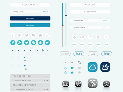 App Design - UI Elements minimal illustrator graphic design app illustration vector ui branding ux design