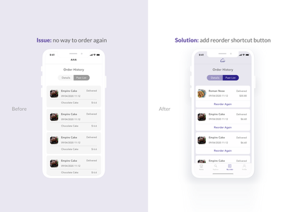 App Design - Before & After minimal illustrator app graphic design vector illustration ui ux branding design