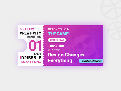 Hello Dribbble pattern ticket wed design ux design ui design mobile app first shot debut event