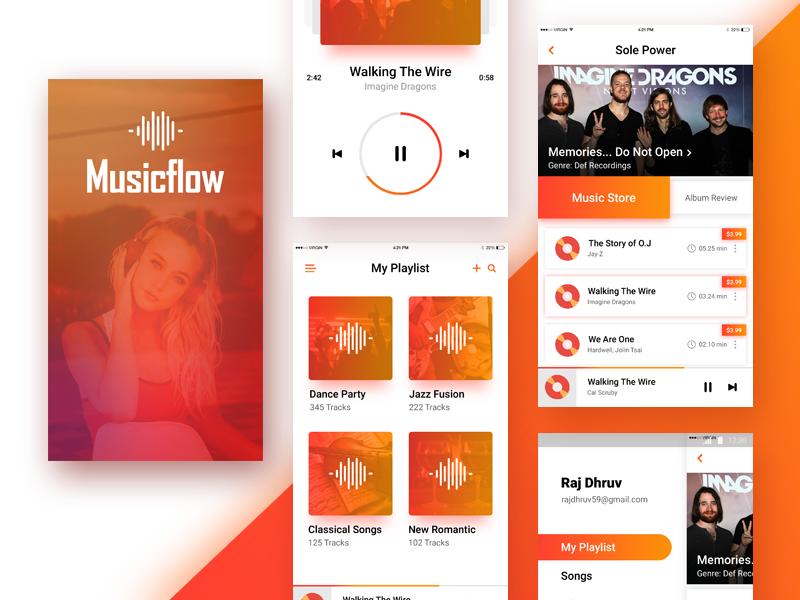 Music App Design - Musicflow