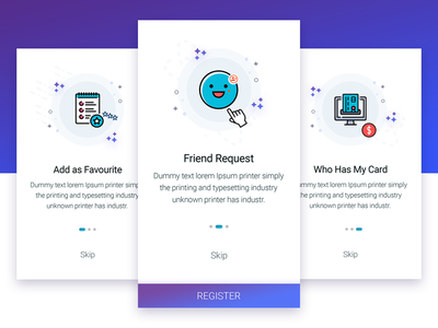 Onboarding illustrations icons registration ux ui guide-screen onboarding prototype user-experience graphics intro app