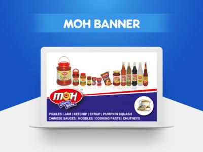 MOH Banner Design mockup jam pickles outdoor advertisement hoarding billboard flex print design graphic banner
