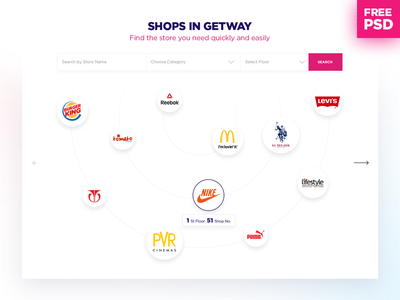 Free PSD for Find the Store free psd shopping mall offers landing page layout web ui ux events home page