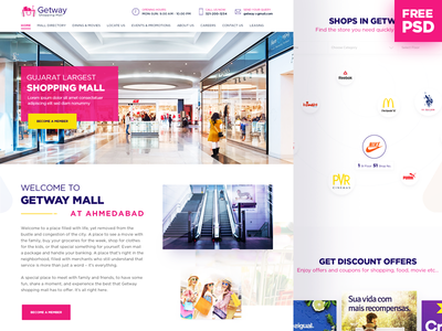 Free PSD Shopping Mall Landing Page free psd shopping mall offers landing page layout web ui ux events home page
