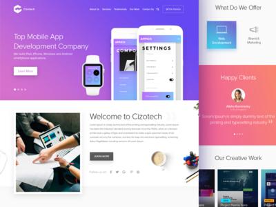 Cizotech Landing Page Design